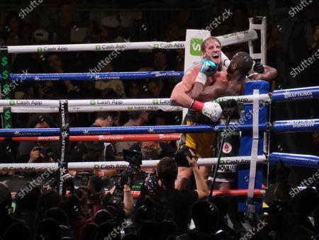 Editorial picture of Floyd Mayweather Jr v Logan Paul fight, Boxing at Hard Rock Stadium, Miami Gardens, Florida, USA - 07 Jun 2021
