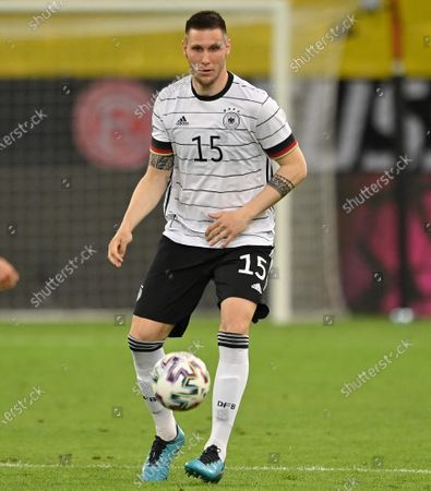 Germany's Niklas Suele in action during the International Friendly soccer match between Germany and Latvia in Duesseldorf, Germany, 07 June 2021.