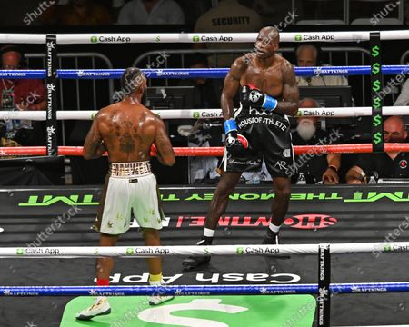 Chad Johnson Vs Brian Maxwell during their contracted exhibition boxing match at Hard Rock Stadium in Miami Gardens, Florida. America - 06 Jun 2021