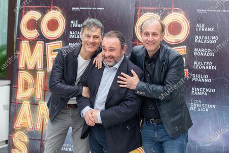 Italian actors Ale e Franz and Natalino Balasso