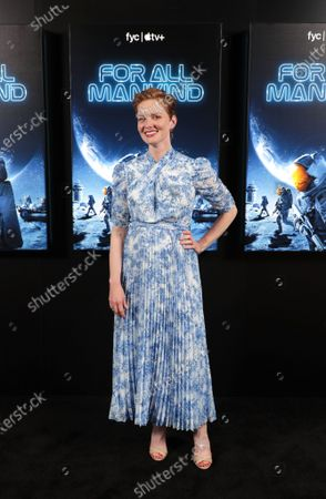"""Stock Image of Cast member Wrenn Schmidt of """"For All Mankind"""" at Apple's FYC Summer Screening Series at The Ford Amphitheater. Season two of """"For All Mankind"""" is now available for streaming on Apple TV+."""