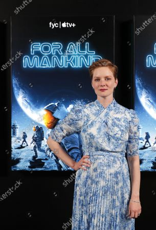 """Cast member Wrenn Schmidt of """"For All Mankind"""" at Apple's FYC Summer Screening Series at The Ford Amphitheater. Season two of """"For All Mankind"""" is now available for streaming on Apple TV+."""