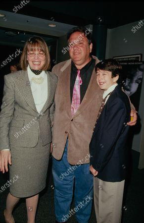 UNITED STATES - 12th September 1995: (L-R) Actors Diane Keaton, Maury Chaykin and Nathan Watt at the New York premiere of 'Unstrung Heroes'.