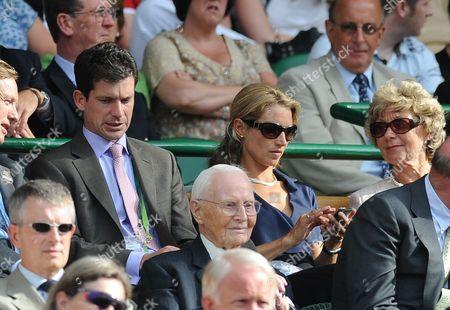 Tim Henman And Lucy Henman Mardy V Djokovic Wimbledon Tennis Championships 2009 26/06/09