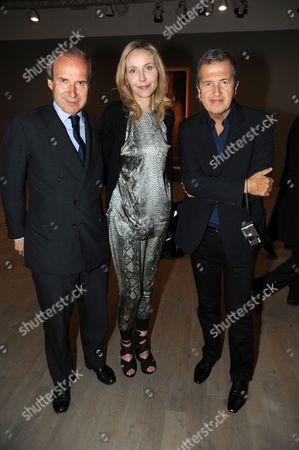 Simon and Michaela  De Pury with Mario Testino