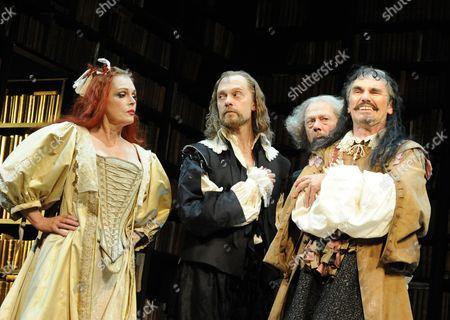 Stock Photo of Joanna Lumley (The Princess), David Hyde Pierce (Elomire), Stephen Ouimette (Bejart) and Mark Rylance (Valere)
