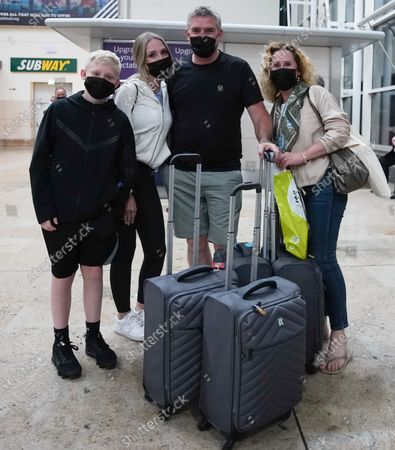 Editorial photo of Travellers arrive at 3am from Faro at Doncaster Sheffield airport ahead of the 4am implementation of quarantine rules, Doncaster, Yorkshire, UK - 08 Jun 2021