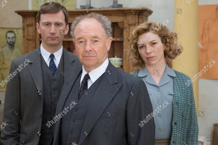 Pictured :Michael Kitchen as Christopher Foyle, Anthony howell as Paul Milner and Honeysuckle Weeks plays Sam Stewart.