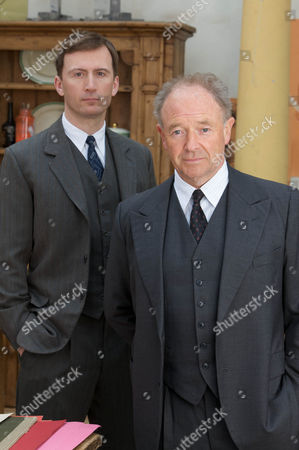 Stock Image of Pictured :Michael Kitchen as Christopher Foyle, Anthony howell as Paul Milner