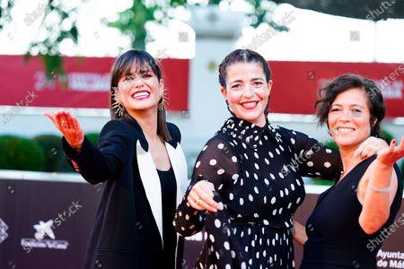 (L-R) Elena Sanchez Nora Navas and Valerie Delpierre attend the Photocall of Festival de Malaga.