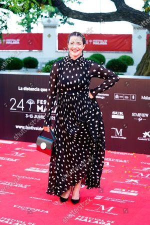 Stock Image of Nora Navas attends the Photocall of Festival de Malaga.