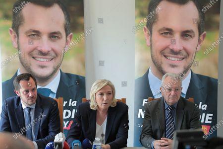 Marine Le Pen and Nicolas Bay.