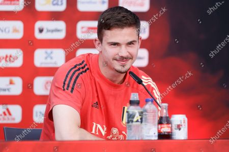 Belgium's Leander Dendoncker pictured during a press conference of the Belgian national soccer team Red Devils, in Tubize, Tuesday 08 June 2021. The team is preparing for the upcoming Euro 2020 European Championship.
