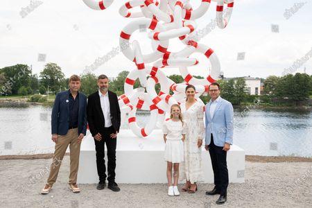 Royals at inauguration of artwork Life Rings, Stockholm