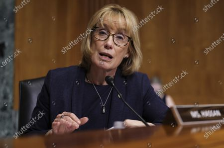 Sen. Maggie Hassan, D-NH, attends a Senate Finance Committee hearing at the U.S. Capitol in Washington DC, on Tuesday, June 8, 2021.