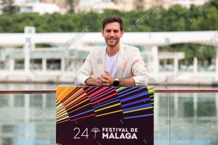 Stock Picture of Marc Clotet poses for the press during the presentation of the film '15 horas' at the 24th Malaga Film Festival in Malaga, Spain, 08 June 2021. The festival runs until 13 June 2021.