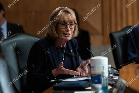 US Senator Maggie Hassan speaks during a Senate Homeland Security and Government Affairs Committee hearing on the Colonial Pipeline cyber attack, on Capitol  Hill, in Washington, DC, USA, 08 June 2021.