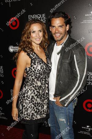 Christian de la Fuente and wife Angelica Castro