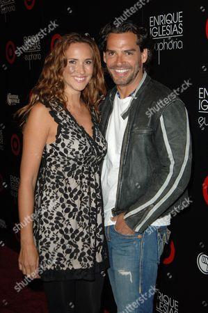 Cristian de la Fuente and wife Angelica Castro