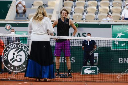 Stock Photo of Alexander Zverev and Marion Bartoli