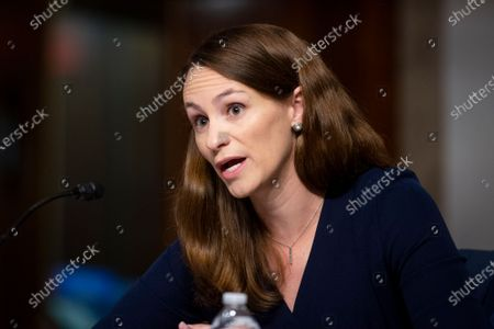 Dr. Sheena Chestnut Greitens, Associate Professor, Lyndon B. Johnson School of Public Affairs University of Texas at Austin, appears before a Senate Committee on Armed Services hearing to examine United States' strategic competition with China, in the Dirksen Senate Office Building in Washington, DC,.