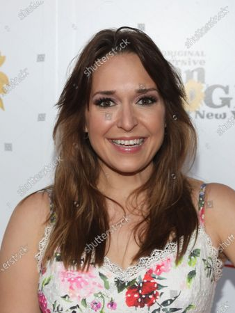 """Actress Jessica Vosk attends the """"Immersive Van Gogh"""" art experience opening celebration at Pier 36, in New York"""