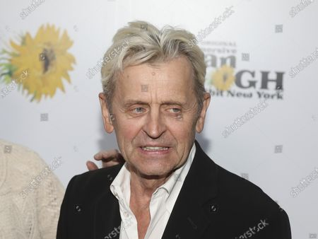 """Stock Picture of Choreographer Mikhail Baryshnikov attends the """"Immersive Van Gogh"""" art experience opening celebration at Pier 36, in New York"""