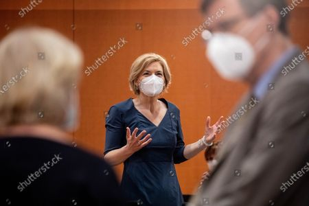 German Minister of Food, Agriculture and Consumer Protection Julia Kloeckner is seen before the weekly meeting of the German Federal cabinet in the conference hall of the Chancellery in Berlin, Germany, 09 June 2021.