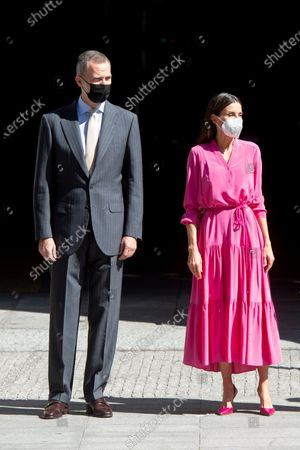 King Felipe and Queen Letizia attend inauguration of exhibition, Madrid