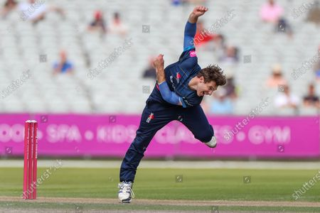 Michael Cohen of Derbyshire Falcons during the Vitality T20 Blast North Group match between Lancashire County Cricket Club and Derbyshire County Cricket Club at the Emirates, Old Trafford, Manchester