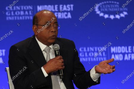 """Mo Ibrahim, Founder and Chairman of, Mo Ibrahim Foundation at the Clinton Global Initiative Middle East & Africa meeting in Marrakech, Morocco. Ibrahim is criticizing vaccine hoarding by wealthy nations, urging the international community to """"walk the talk"""" as Africa desperately lags behind in vaccinating against COVID-19"""