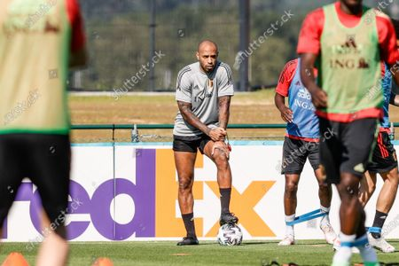 Belgium's assistant coach Thierry Henry pictured during a training session of the Belgian national soccer team Red Devils, in Tubize, Wednesday 09 June 2021. The team is preparing for the upcoming Euro 2020 European Championship.