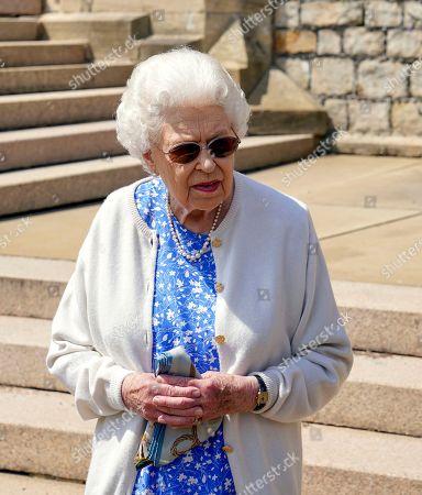 Queen Elizabeth II plants Duke of Edinburgh rose, Windsor Castle