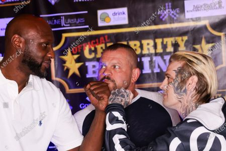 Celebrity Boxing: Lamar Odom v. Aaron Carter, Weigh In, Atlantic City