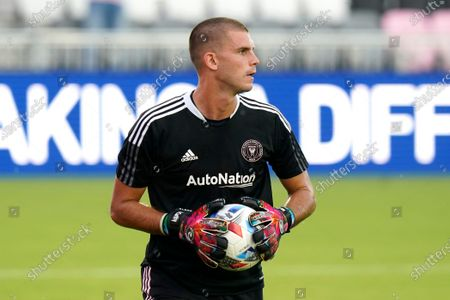 Inter Miami's John McCarthy warms up before an MLS soccer match between Inter Miami and CF Montréal, in Fort Lauderdale, Fla