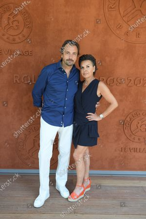 Stock Photo of Henri Leconte and his wife
