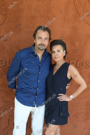 Henri Leconte and his wife