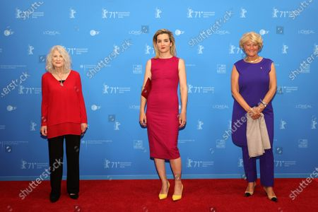 Mohamedou Ould Slahi's attorney, Nancy Hollander, US human rights lawyer Kitty Austin and German Federal Commissioner for Culture and Media Monika Gruetters attend the Opening Ceremony and premiere of 'The Mauritanian' during the 71st Berlin International Film Festival (Berlinale) Summer Special at the Museumsinsel (Museum Island) in Berlin, Germany, 09 June 2021. Due to the coronavirus COVID-19 pandemic, the 71st Berlinale is taking place in two stages: a virtual Industry Event, that was held from 01 to 05 March 2021, and the Summer Special for the general public running from 09 to 20 June 2021 as an outdoor-only event.