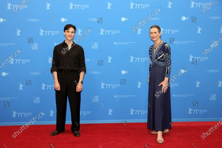 Sebastian Urzendowsky (L) and Berlinale Executive Director Mariette Rissenbeek attend the Opening Ceremony and premiere of 'The Mauritanian' during the 71st Berlin International Film Festival (Berlinale) Summer Special at the Museumsinsel (Museum Island) in Berlin, Germany, 09 June 2021. Due to the coronavirus COVID-19 pandemic, the 71st Berlinale is taking place in two stages: a virtual Industry Event, that was held from 01 to 05 March 2021, and the Summer Special for the general public running from 09 to 20 June 2021 as an outdoor-only event.