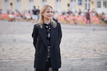 Mavie Hoerbiger attends the premiere of 'Ich und die Anderen' (Me and the Others) during the 71st Berlin International Film Festival (Berlinale) Summer Special at Charlottenburg Palace outdoor cinema in Berlin, Germany, 09 June 2021. Due to the coronavirus COVID-19 pandemic, the 71st Berlinale is taking place in two stages: a virtual Industry Event, that was held from 01 to 05 March 2021, and the Summer Special for the general public running from 09 to 20 June 2021 as an outdoor-only event.