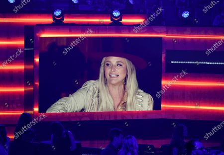 """Stock Picture of Pictured on screen is Miranda Lambert as she performs """"Tequila Does"""" at the CMT Music Awards at the Bridgestone Arena, in Nashville, Tenn"""