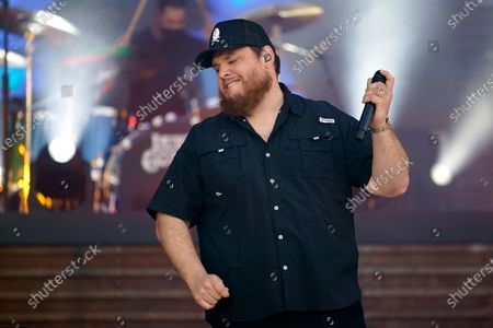 """Luke Combs performs """"Cold as You"""" at the CMT Music Awards, in Nashville, Tenn. The awards show airs on June 9 with both live and prerecorded segments"""