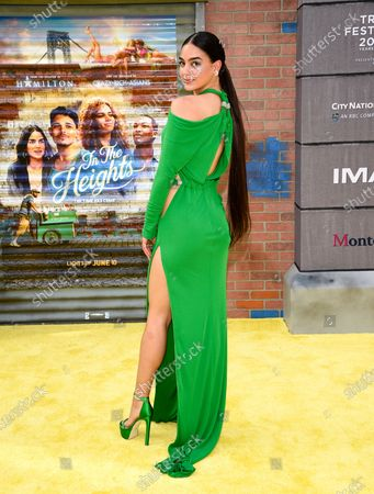 """Actress Melissa Barrera attends the Tribeca Film Festival opening night premiere of """"In the Heights"""" at the United Palace theater, in New York"""