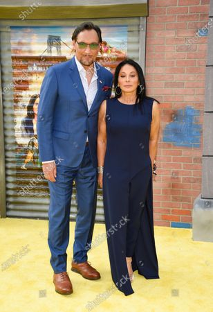 """Actor Jimmy Smits and Wanda De Jesus attend the 2021 Tribeca Film Festival opening night premiere of """"In The Heights"""" at the United Palace theater, in New York"""