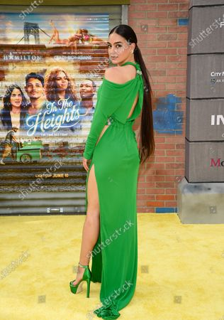 """Actor Melissa Barrera attends the 2021 Tribeca Film Festival opening night premiere of """"In The Heights"""" at the United Palace theater, in New York"""