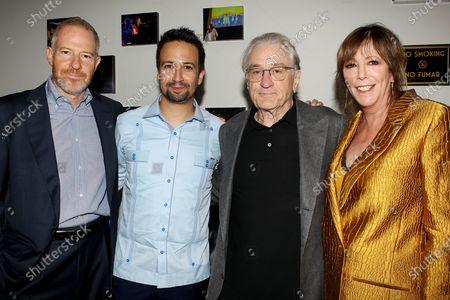 Toby Emmerich (Chairman, Warner Bros. Pictures Group), Lin-Manuel Miranda, Robert De Niro, Jane Rosenthal