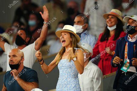 Novak Djokovic's wife, Jelena Djokovic celebrates
