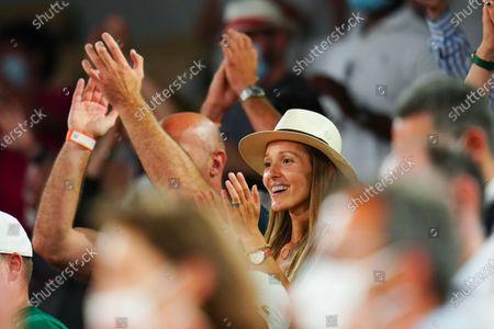 Novak Djokovic's wife, Jelena Djokovic celebrates his victory
