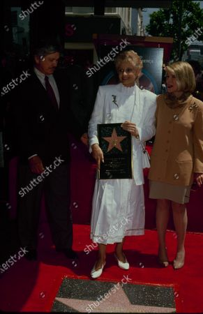 UNITED STATES - Charles Bronson, Jill Ireland  - Jill Ireland honored with a star on the Hollywood Walk of Fame, Hollywood Blvd. in Hollywood, California, United States.