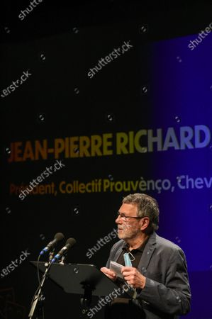 Editorial photo of Renaud Muselier gives a speech as part of the campaign for the regional elections in France - 07 Jun 2021